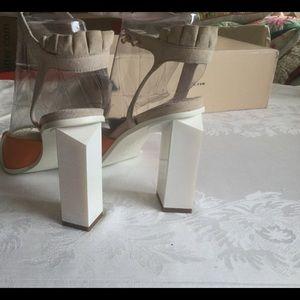 Alado high heel sandels,multi color leather, 449.0